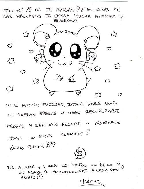 Totonika Nova hamster healing letter